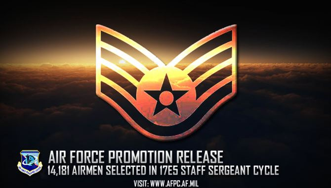 Air Force staff sergeant promotion release
