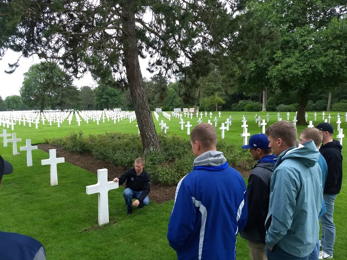 Cadets in cemetery