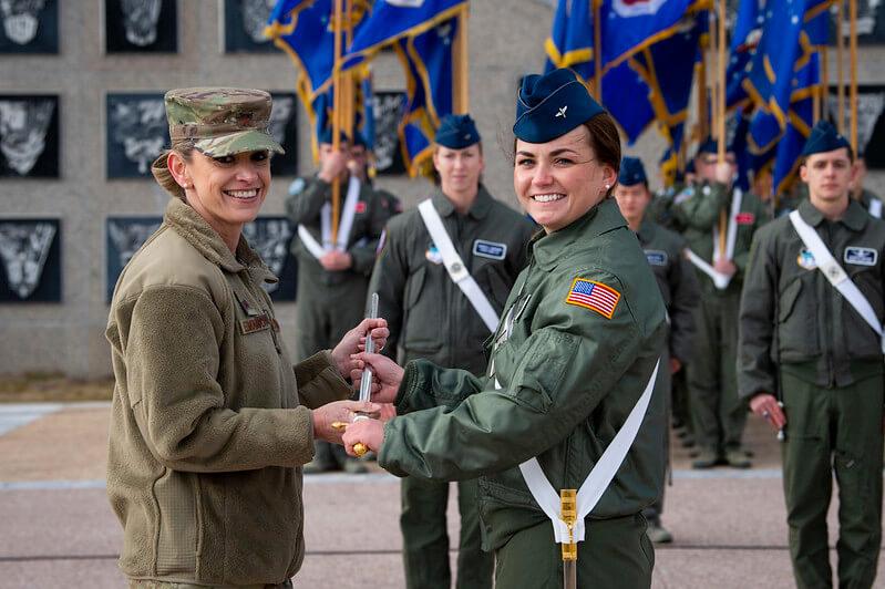 Cadet wing commander thanks parents grads