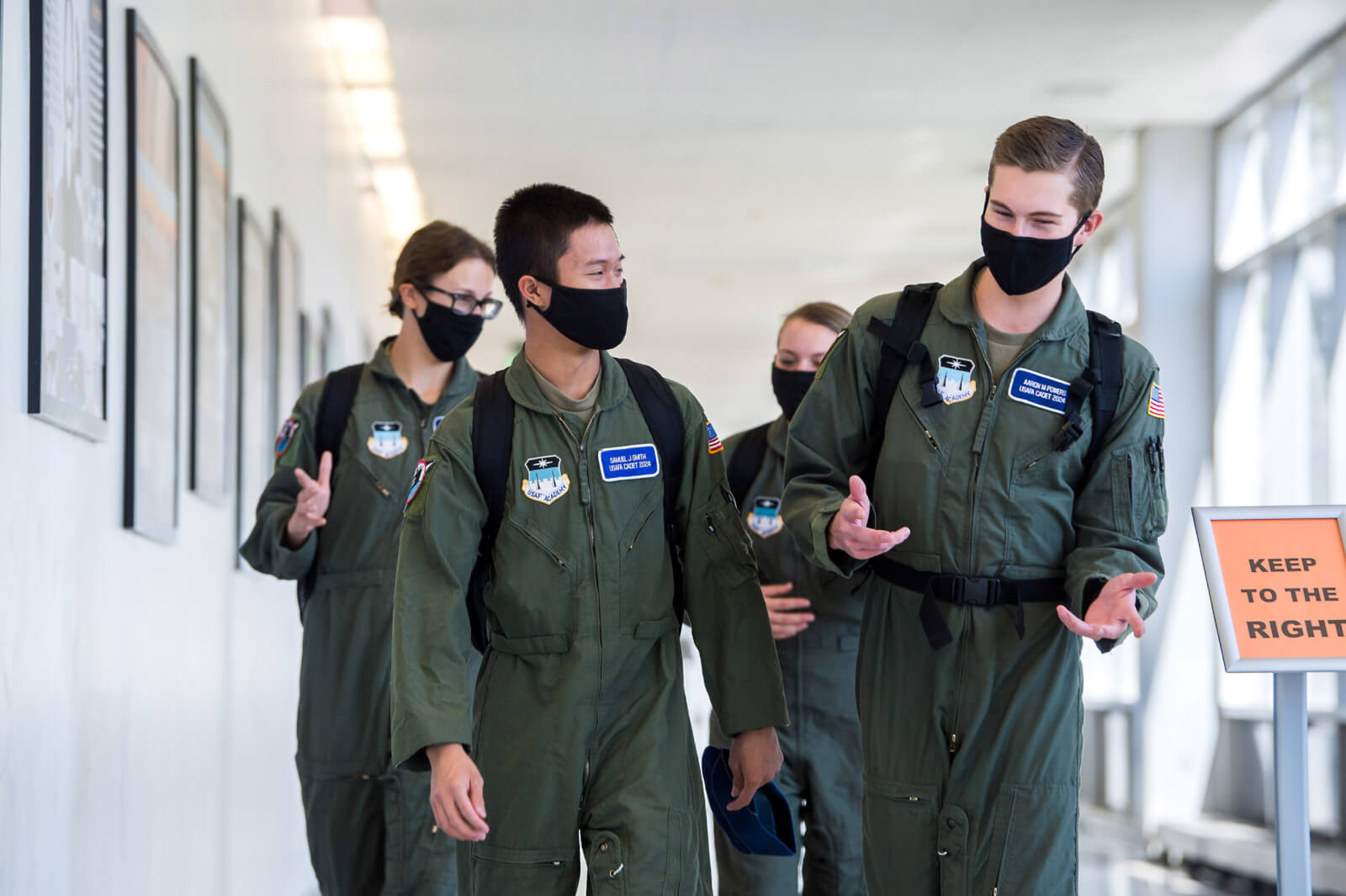 Cadets in hallway
