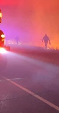Firefighter by road