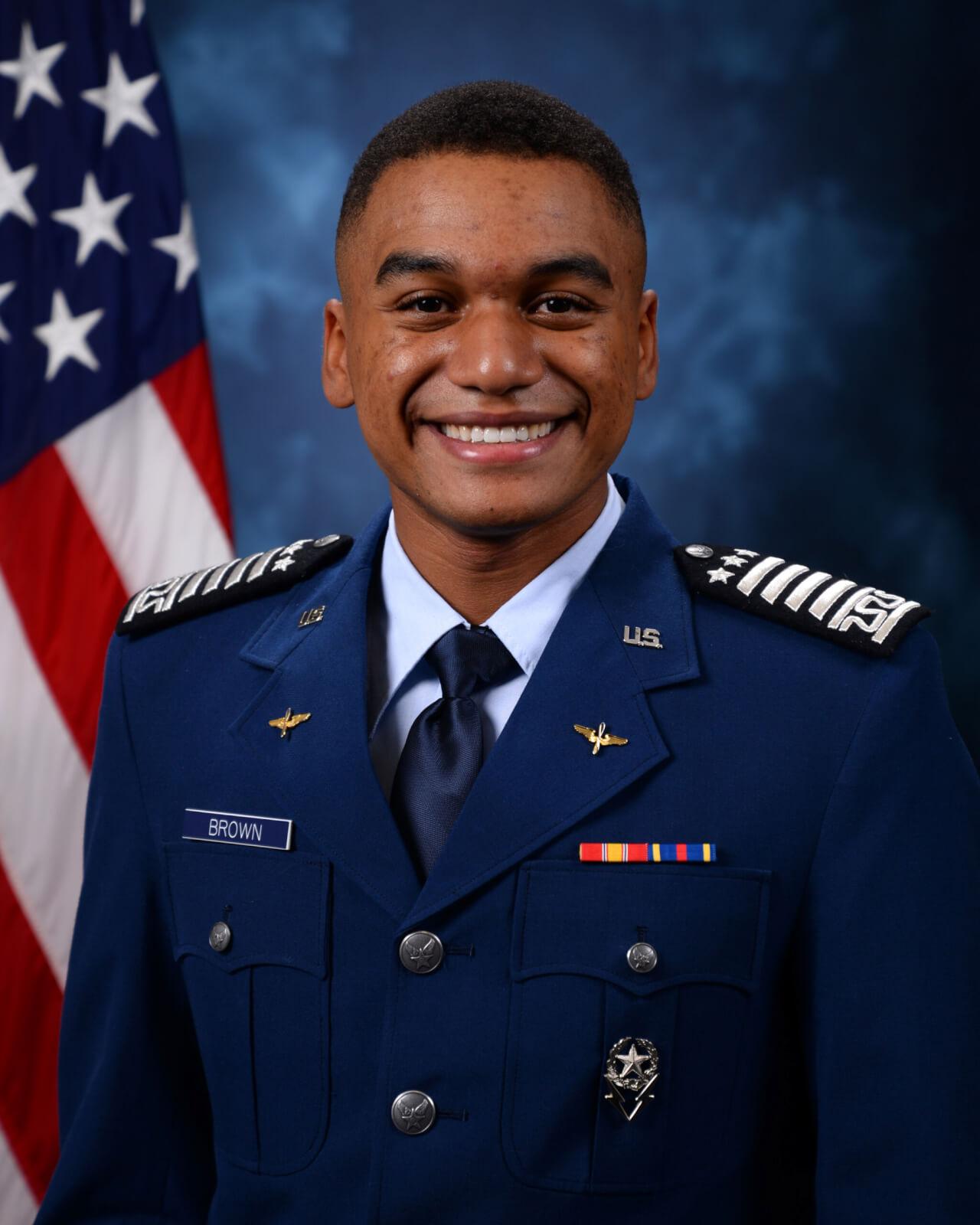 Cadet 1st Class Aryemis Brown, recipient of the Rhodes scholarship
