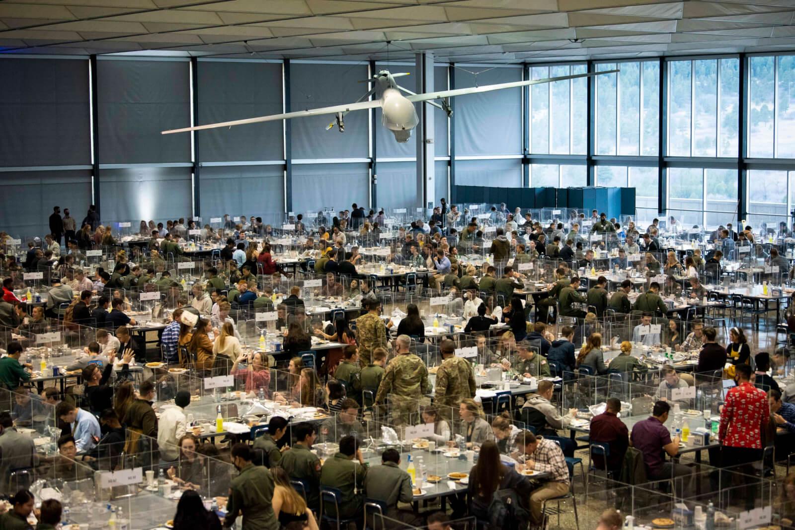USAFA Thanksgiving Dinner Mitchell Hall 2020
