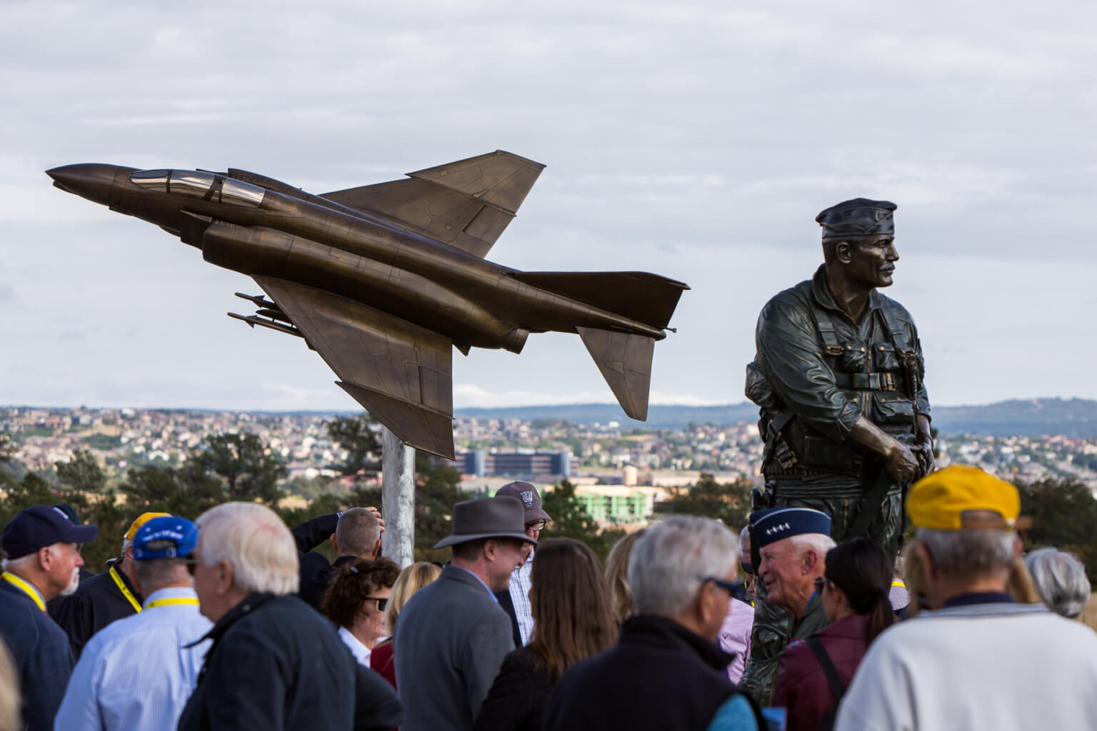Academy honors air power, ace pilot Robin Olds with memorial