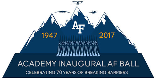 Graphic logo of Academy Inaugural Air Force Ball