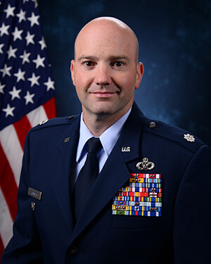 Official photo of Lt Col Michael Brannon