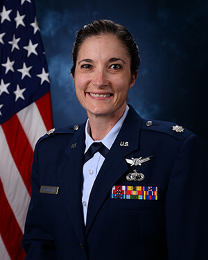 Official photo of Lieutenant Colonel Leann Ferguson