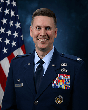 Official photo of Col. Hartless (10 ABW)