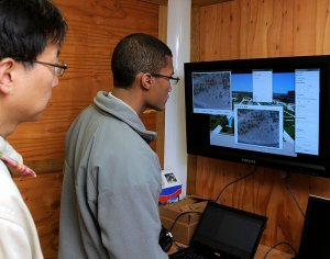 Cadets work on the Academy's remotely piloted aircraft program