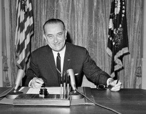President Lyndon B. Johnson signed Public Law 88-276 in 1964