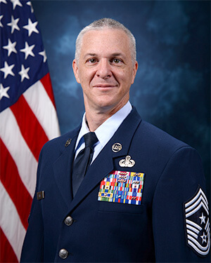 Official photo of Chief Master Sergeant Mathew King