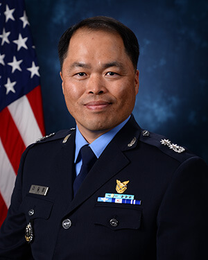 Official photo of Lieutenant Colonel Gil Young Lee