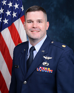 Official photo of Major Jonathan Wright
