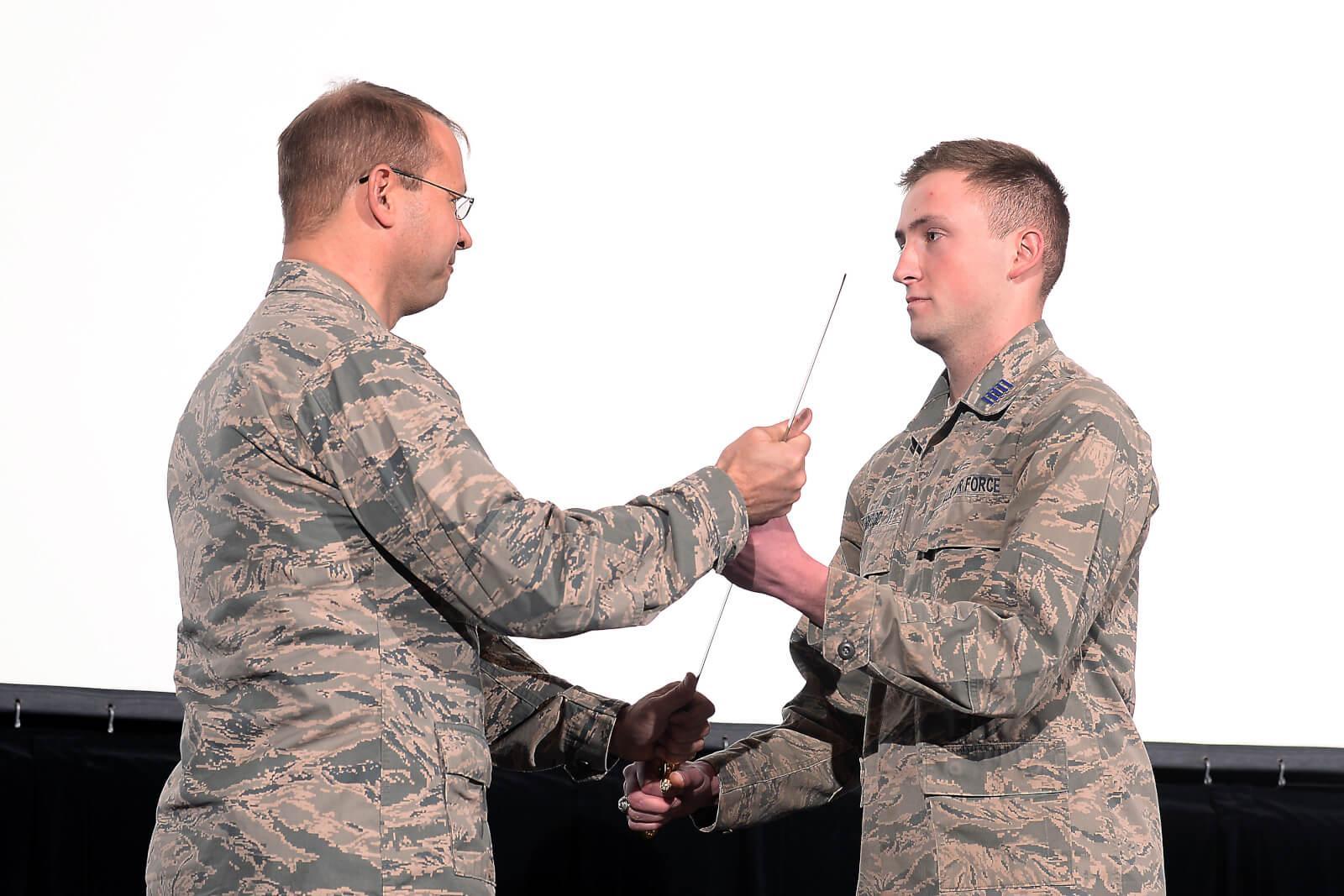 Senior Cadet Yarwood Takes Command of Cadet Wing