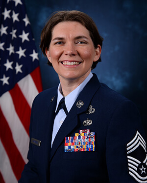 Official photo of CMSgt Chambers (CCLD).