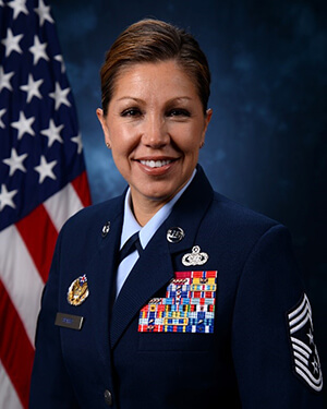 Official photo of Chief Master Sergeant Sarah A. Sparks (HQ)