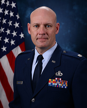 Official photo of Lt Col Wacker (DFP)