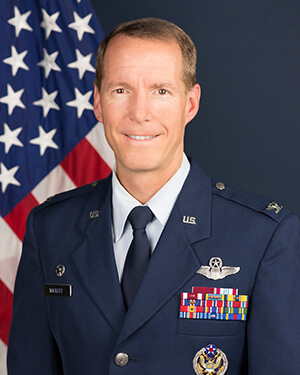Official photo of Colonel Wickert (DFAN)