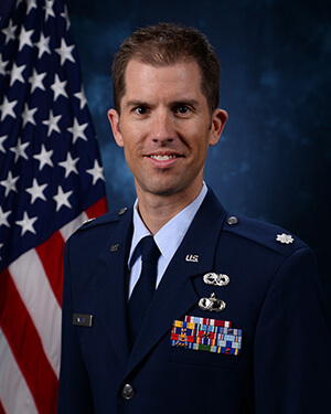 Official photo of Lt Col Willis (DFP)