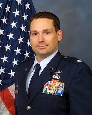 Official photo of Lt Col Jackson (DFPS)