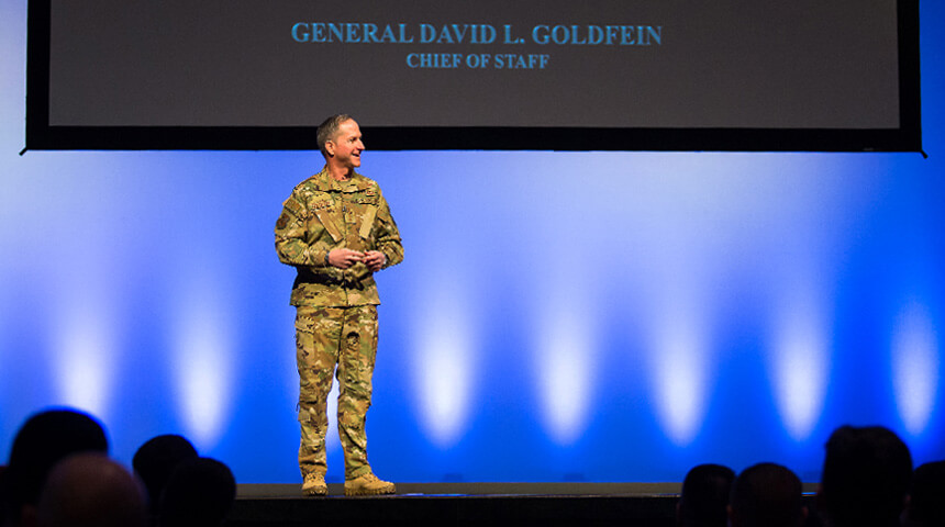 image of General Goldfein speaking at NCLS