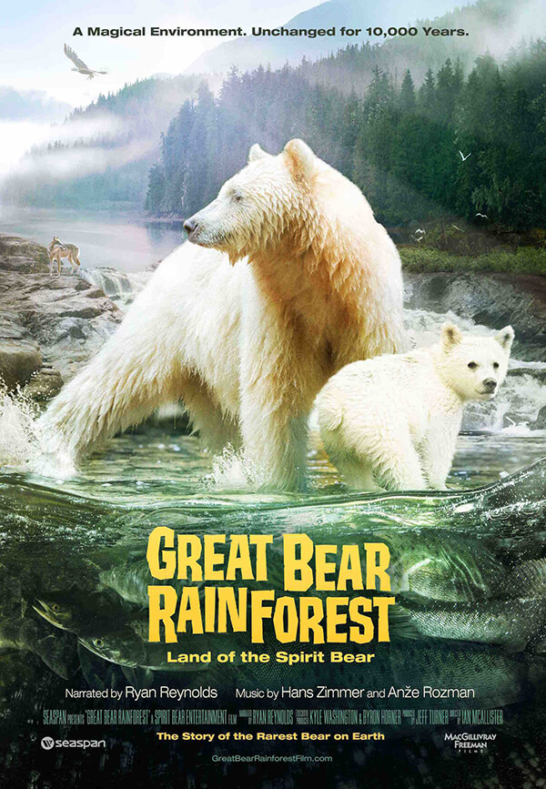 Ad for Great Bear Rainforest show at Planetarium