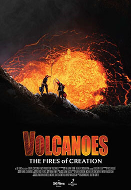 Ad for Volcanoes show at Planetarium