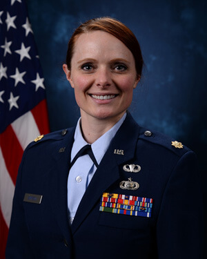 Official photo of Major Elizabeth Simpson