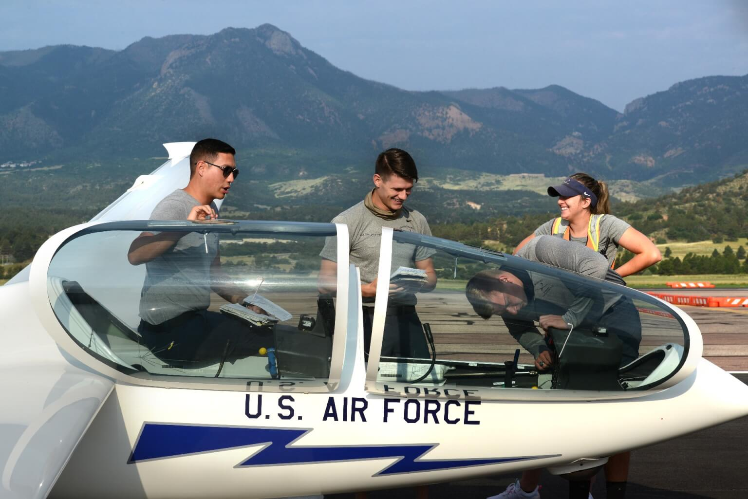 cadets with glider