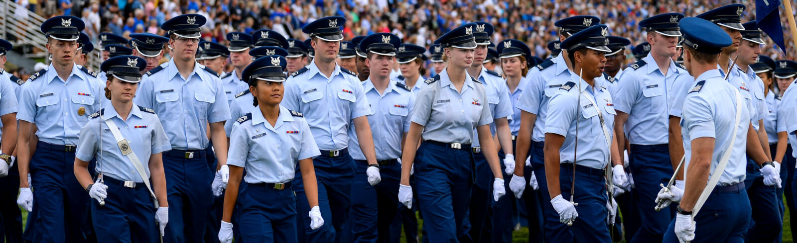 Cadets marching in parade