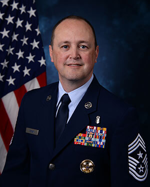 Official photo of Chief Master Sergeant Bryan Tuman