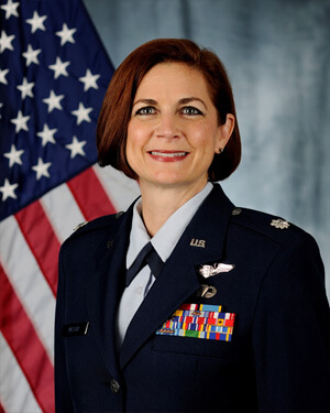 Official photo of Lt Col Lynda Zamora Wilson
