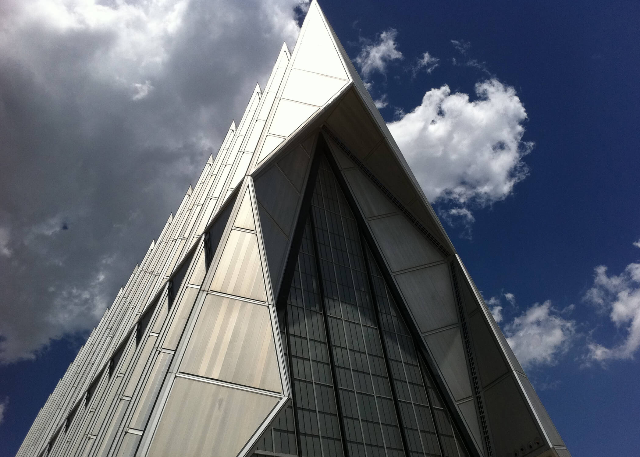 Image of the spires atop the cadet chapel at the U.S. Air Force Academy.