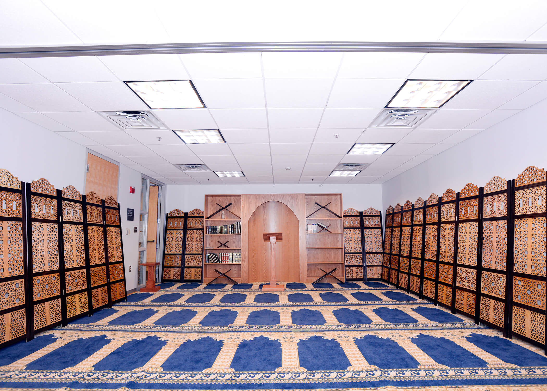 Image of prayer room for Islamic services
